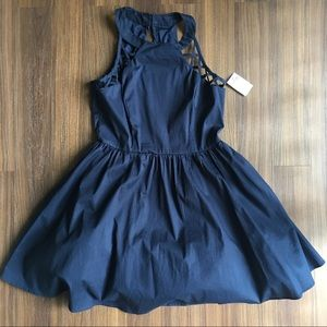CR Navy Skater Dress